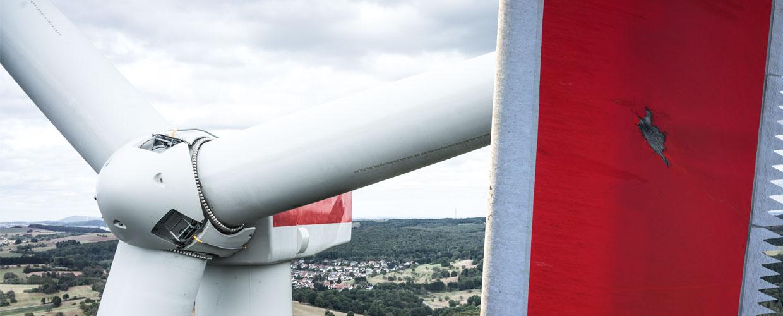 Blitzschaden an Windkraftanlage