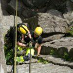 Ausbildung zum Höhenretter am Steinhang