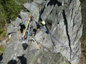 Höhenrettung am Seil